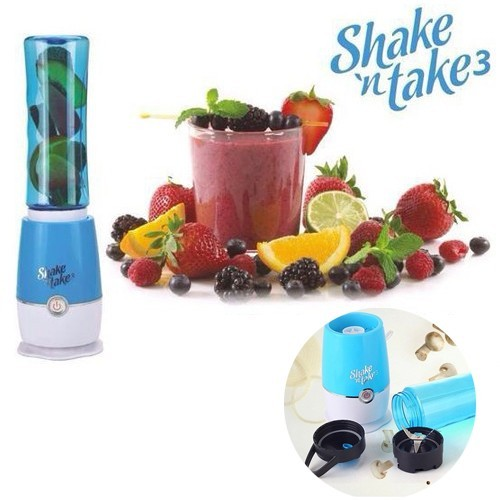 Shake N Take 3 Botol Blender Portabel - Blue (2 Cup)