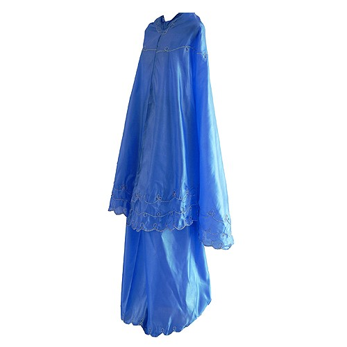 Mukena Travel Parasut Abutay - Blue
