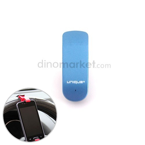 Unique Headphone Bluetooth Top T-1 - Blue Bundling Car Holder Steering Wheel - Vertikal