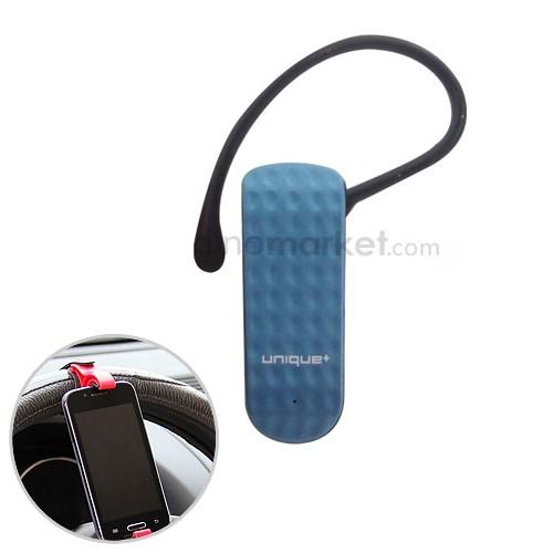 Bluetooth Headset Top T2 - Blue + Car Holder Steering Wheel - Vertikal