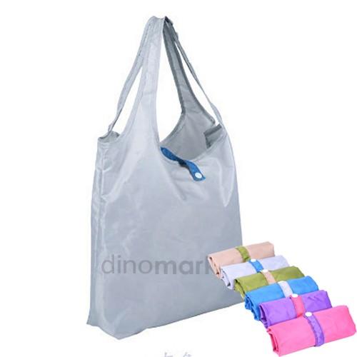 Foldable Korean Jumbo Shopping Handbag - Grey