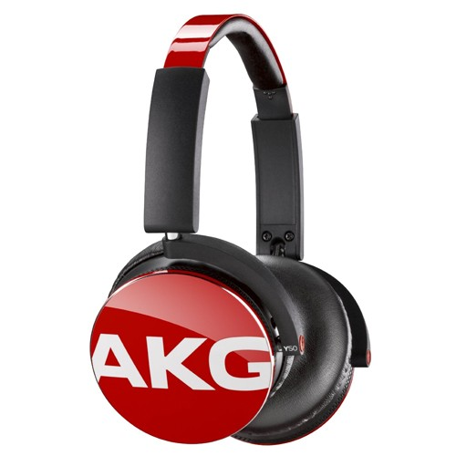 AKG On-Ear Headphone with In-Line One-Button Y50 - Red