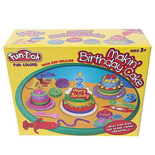 Lilin Mainan Makin Birthday Cake for Age 3