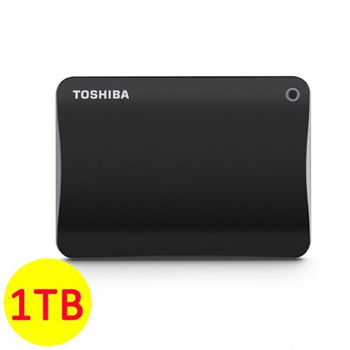 Toshiba Hard Disk Canvio Connect II 3.0 Portable Hard Drive 1TB - Black