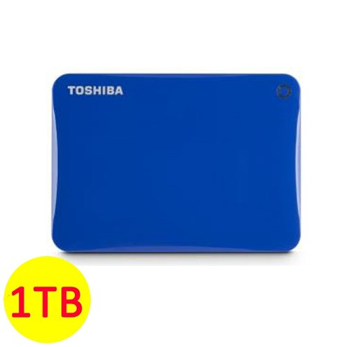 Toshiba Hard Disk Canvio Connect II 3.0 Portable Hard Drive 1TB - Blue