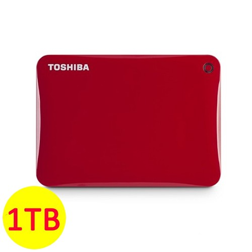 Toshiba Hard Disk Canvio Connect II 3.0 Portable Hard Drive 1TB - Red