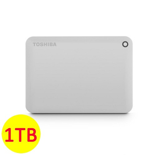 Toshiba Hard Disk Canvio Connect II 3.0 Portable Hard Drive 1TB - Putih