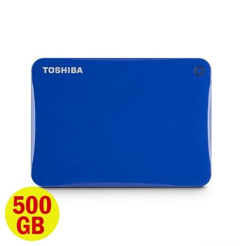 Toshiba Hard Disk Canvio Connect II 3.0 Portable Hard Drive 500GB - Blue