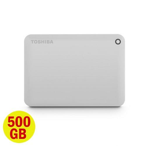Toshiba Hard Disk Canvio Connect II 3.0 Portable Hard Drive 500GB - Putih