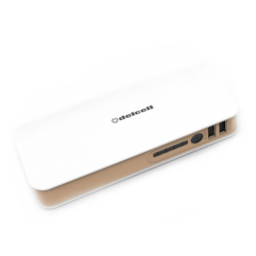 Delcell Power Bank Turbo 10.000 mAh - White Brown