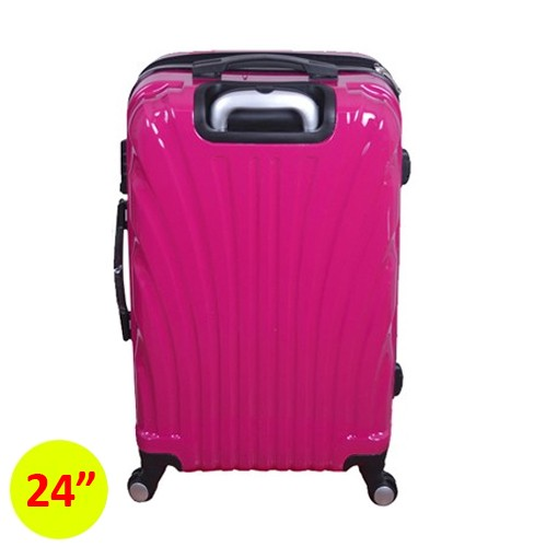 Travel With Us Koper Hard Case Clamsheel 24 Inch - Fuschia