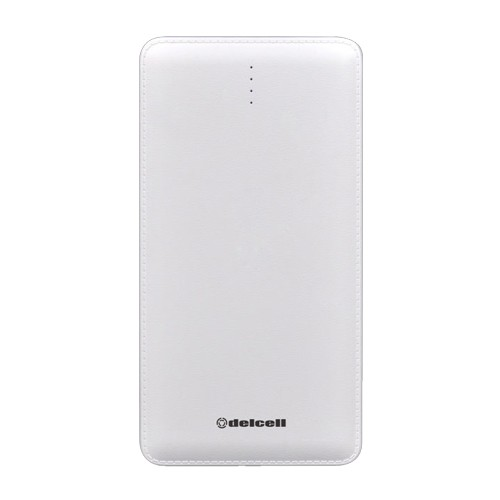 Delcell Power Bank 10.500 mAh Note Slim - White