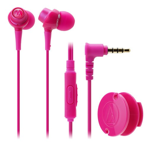 Audio Technica In-ear Headphone w/Mic ATH-CKL203iS - Pink