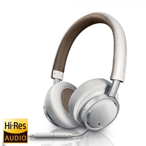 Philips Headphone Fidelio M1MKII with Microphone - White
