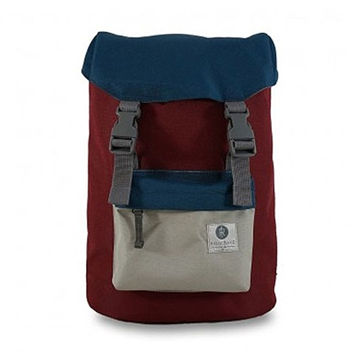 Ridgebake Tas Ransel Legacy Hook - Maroon Blue Light Grey