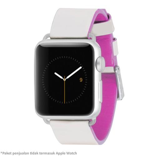Case-Mate Apple Watch Strap 38mm CM032785 - Ivory & Shocking Pink