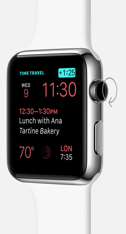 Apple Watch 38mm Stainless Steel Case With Black Classic Buckle - MLE62ID/A