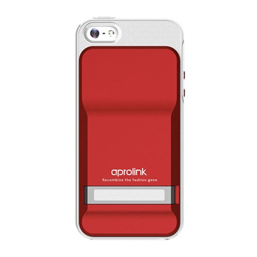 Aprolink Case Slinder With Dual Material For iPhone 5/5S Red