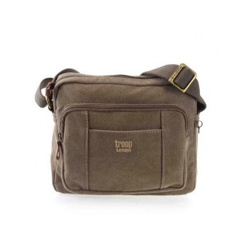 Troop London Canvas Bag TRP0235 - Brown