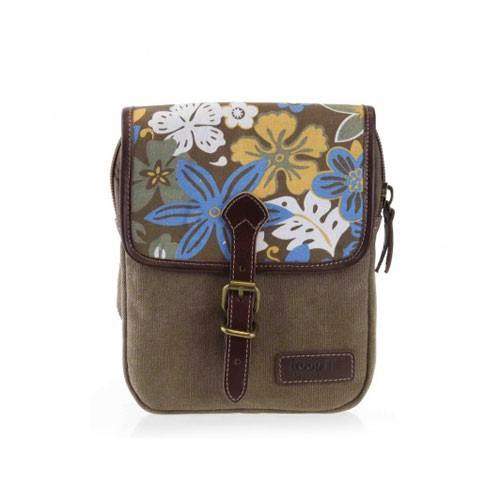 Troop London Canvas Bag TRP0362 - Brown