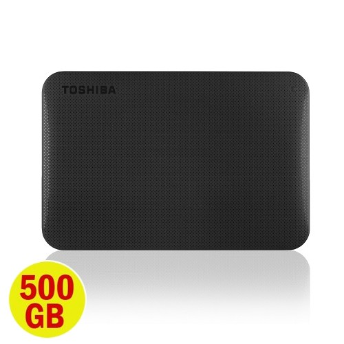 Toshiba Canvio Ready 3.0 Portable Hard Drive 500GB - Black