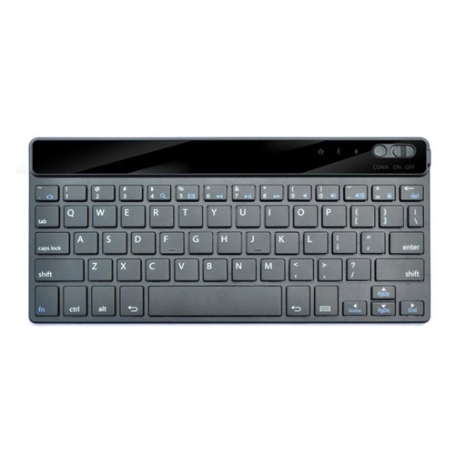 Leather Bluetooth Keyboard Universal for Android & iOS - Black