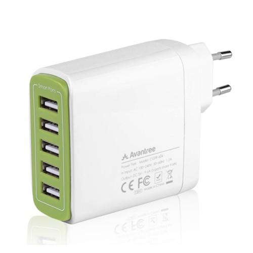 Avantree Wall Charger 9.6A Desktop 5 USB - Powertrek