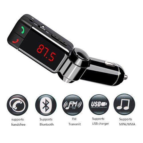Bluetooth Car Charger Multifunction 5 in 1