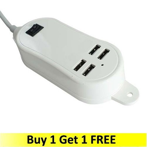 Charger Desktop 4-Port Curve Power - White (Buy 1 Get 1 FREE)