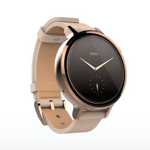 Moto 360 (2nd Gen) 42mm Rose Gold Case With Blush Leather Band