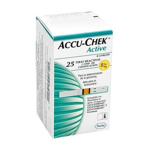 Accu-Chek Strip Gula Darah for Active Meter - 25 pcs