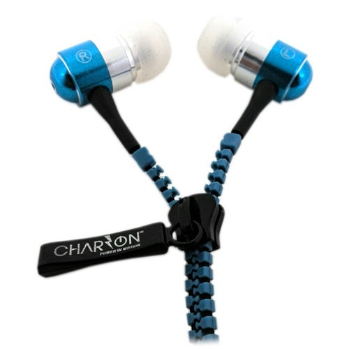 Charzon In-Ear Headphone Zipper - Blue