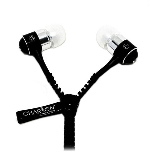 Charzon In-Ear Headphone Zipper - Black