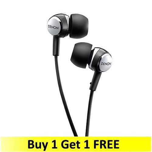 Denon In-ear Headphones AHC260BKEM - Black (Buy 1 Get 1 FREE)
