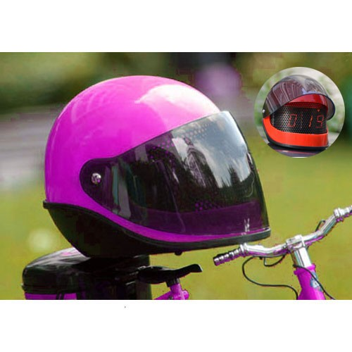 Jam Alarm Helm - Purple