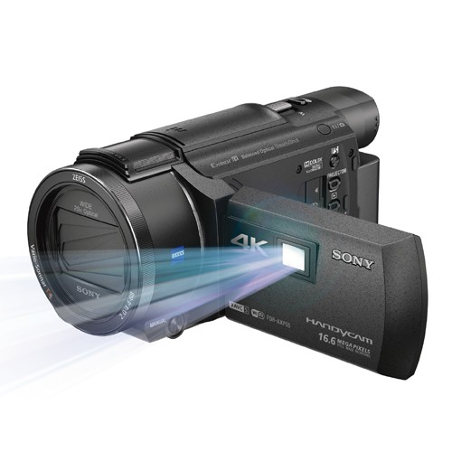 Sony 4K Handycam with Built-in Projector - FDR-AXP55
