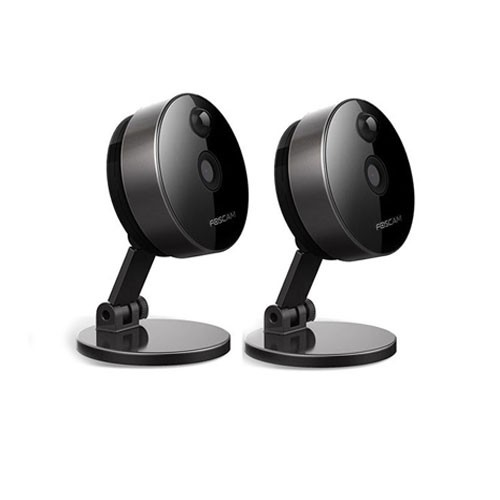 Foscam Indoor Wireless IP Camera C1 - Black (Bundle 2 Pcs)