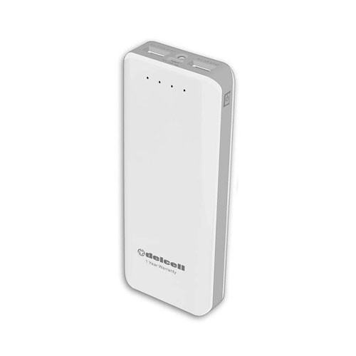 DelCell Power Bank Six 12500 mAh - White Grey