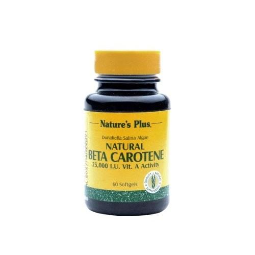Natures Plus Beta Carotene 25000 IU - 60 Softgels