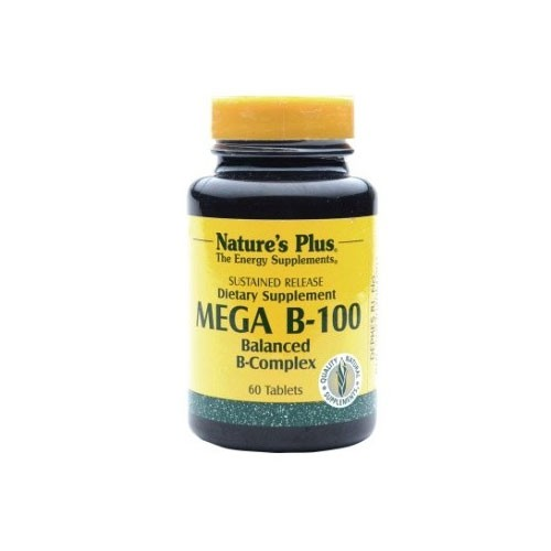 Natures Plus Mega B-100 S/R - 60 Tablets