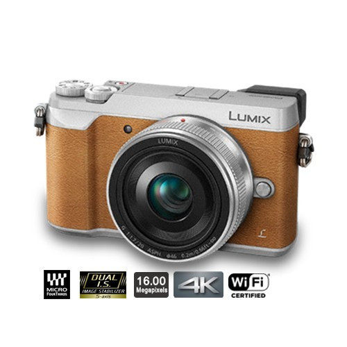 Panasonic Lumix Mirrorless Digital Camera with 12-32mm Lens GX85 - Brown