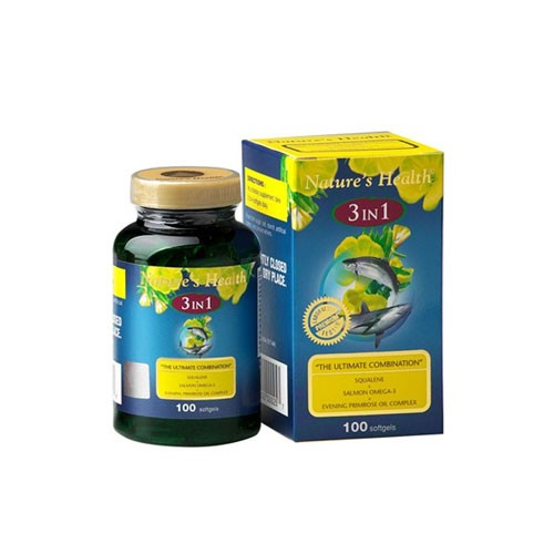 Natures Health Squalene + Omega + EPO 3 in 1 - 100 Softgels