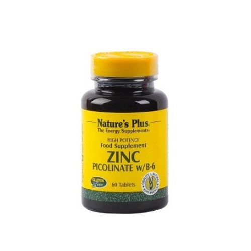 Natures Plus Zinc Picolinate With B6 - 60 Tablets