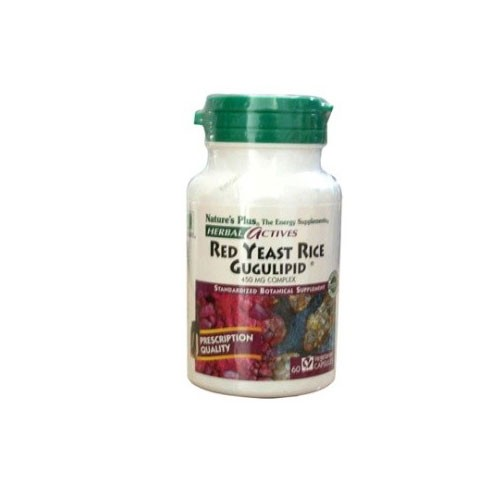 Natures Plus Red Yeast Rice Gugulipid - 60 Capsules
