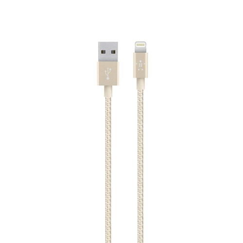 Belkin Metallic Lightning to USB Cable 1.2M - Gold