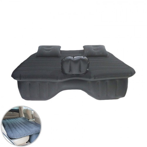 Car Mattress with Air Pump and Repair Kit - Black