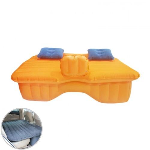 Car Mattress with Air Pump and Repair Kit  - Orange