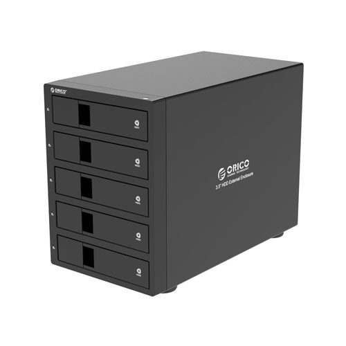 Orico 5-bay SATA3.0 3.5' SATA 3.0 HDD Enclosure 9958U3-BK - Black