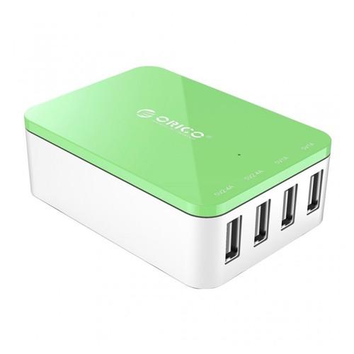 Orico 4-Port Portable Desktop USB Super Charger 20W CSI-4U - Green