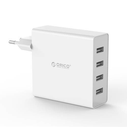 Orico 4 Port USB Wall Charger DCW-4U - White